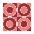 Stock Photo: Seamless red circle pattern