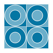 Seamless tile with blue circles — Stock Photo