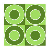 Seamless tile with green circles — Stock Photo
