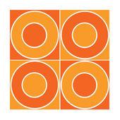 Seamless tile with orange circles — Stock Photo