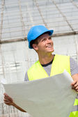 Smiling young architect — Stock Photo