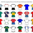 World cup strip designs — ストック写真
