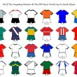 World cup strip designs - Stock Photo
