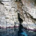 Sea cave on the Ionian Sea — Stock Photo