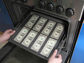 Making dollars — Stock Photo