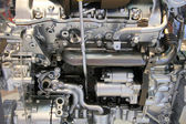 Internal combustion engine by side — Stock Photo