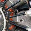 Radial engine of an airplane — Stock Photo