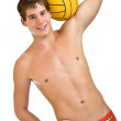 Handsome guy with ball — Stock Photo