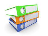 Three Folders — Stock Photo