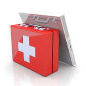 Server first aid — Stock Photo
