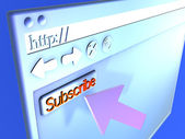 Browser Closeup - Subscribe — Stock Photo