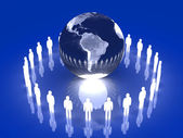 Glowing Global Team - South America — Stock Photo