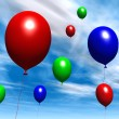 Stock Photo: Balloons - Daytime Sky