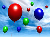 Balloons - Daytime Sky — Stock Photo
