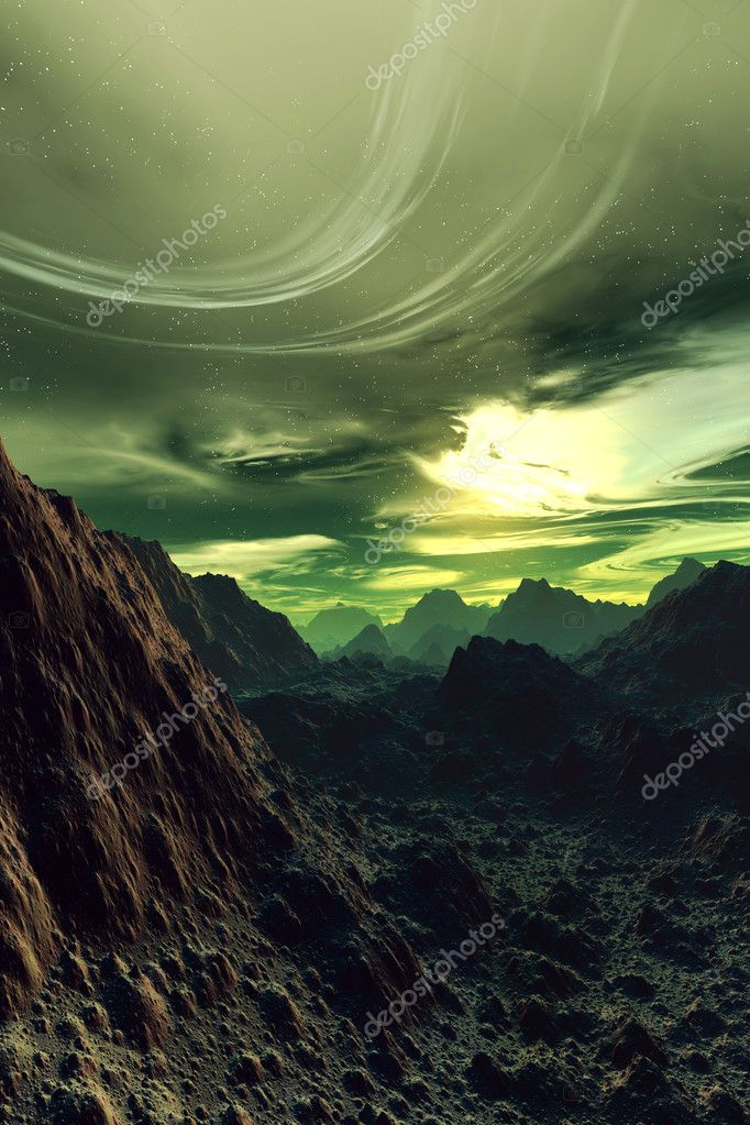 3D rendered Scifi Landscape. — Stock Photo #3307674