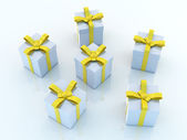 Gift Boxes - Blue Environment — Stock Photo