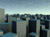 Velké město 2kamenná stavba — Stock fotografie