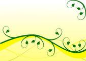 Sarı ve yeşil bir çiçek arka plan — Stok Vektör