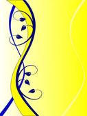 Sarı ve mavi bir çiçek arka plan — Stok Vektör