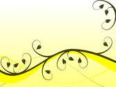 Fondo floral abstracto amarillo — Vector de stock