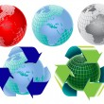 Vector earth globe elements — Stock Vector #3059083