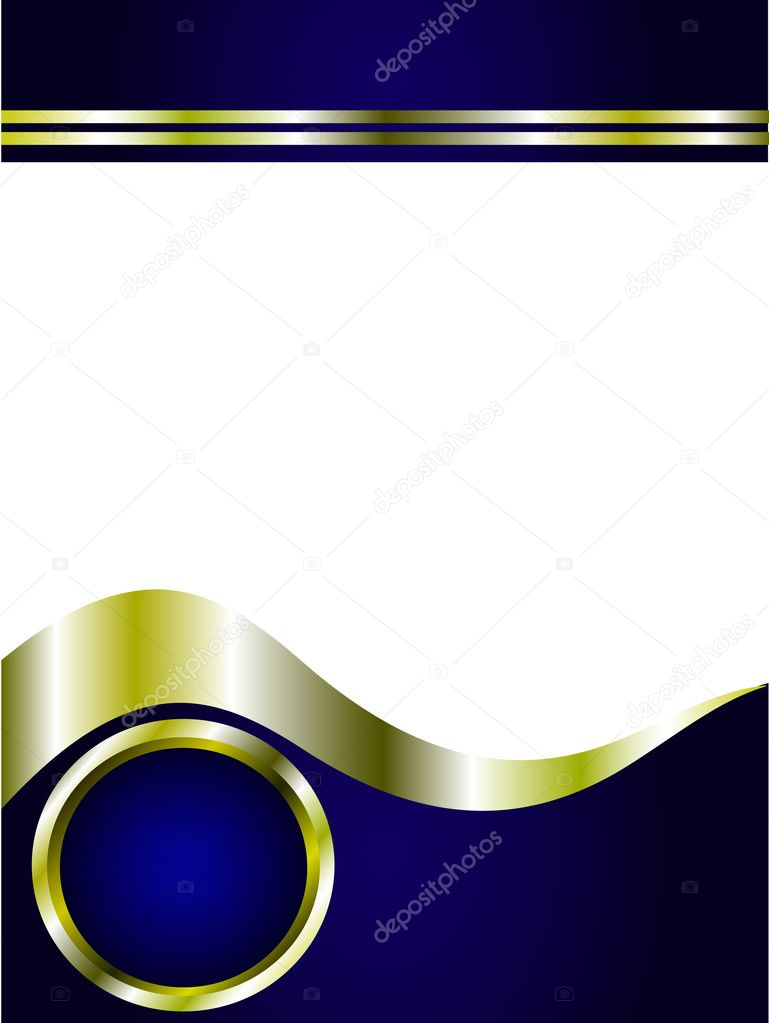 a royal blue and gold business card  u2014 stock vector