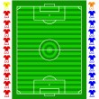Stock Vector: Vector soccer football tactical pitch