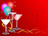 Twenty First Birthday party Background — Stock Vector