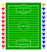 A vector soccer football tactical pitch — Stock Vector