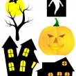 A set of halloween vector elements — Stock Vector