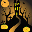 A halloween vector illustration — Stock Vector