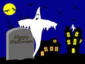 A halloween vector illustration — Stock Vector