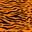 Tiger Stripe Seamless Background — Vektorgrafik