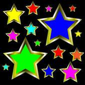 金の星の抽象的な背景 — ストックベクタ