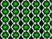 зеленый и серебро бесшовное фон — Cтоковый вектор