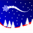 A red and blue Christmas background vector illustration - Stock Vector