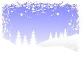 Ein vektor-hintergrund-illustration der grunge-winter — Stockvektor