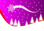Abstrakte weihnachten winterszene — Stockvektor