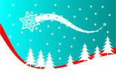 Abstract Christmas Winter Scene — Stock Vector