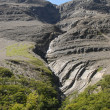 Stock Photo: Clinker slopes near perito morena