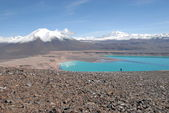 Laguna verde in Atacama desert — Stock Photo