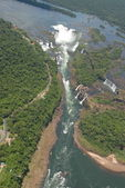Iguasu waterfalls bird's eye view — Stock Photo