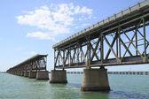 The old Railroad Bridge on Bahia Honda Key — Stock Photo