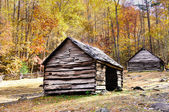 Historic log cabins in Smoky mountain national park — Stock Photo