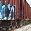 Stock Photo: Train Cars with Graffiti