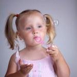 Soap bubble play — Stock Photo #3561264