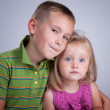 Two kids — Stock Photo