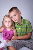 Brothr and sister — Stockfoto