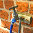 Stock Photo: Outside Tap and Hose