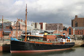 Old Boat in Liverpool Dock — Stock Photo